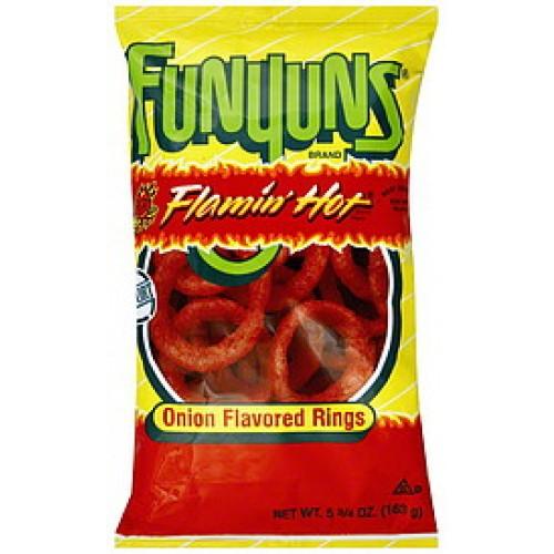 Funyuns Onion Rings Flamin Hot 163gram