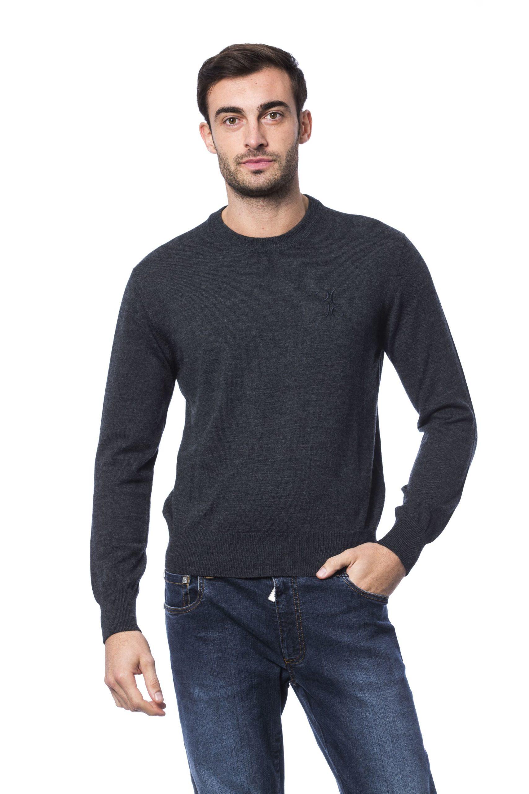 Billionaire Italian Couture Men's Sweater Grey BI816885 - 4XL