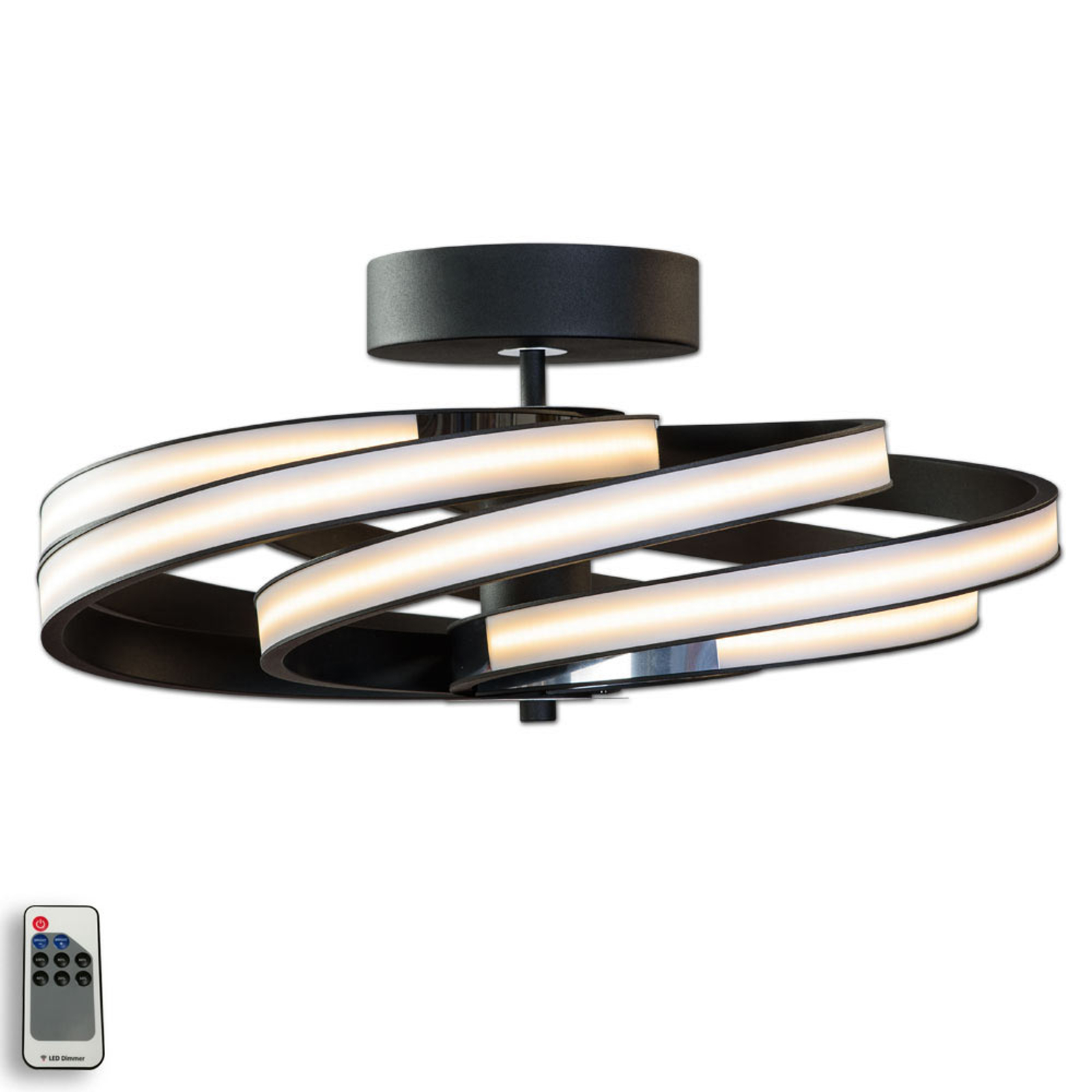 Zoya - moderni LED-kattolamppu, musta