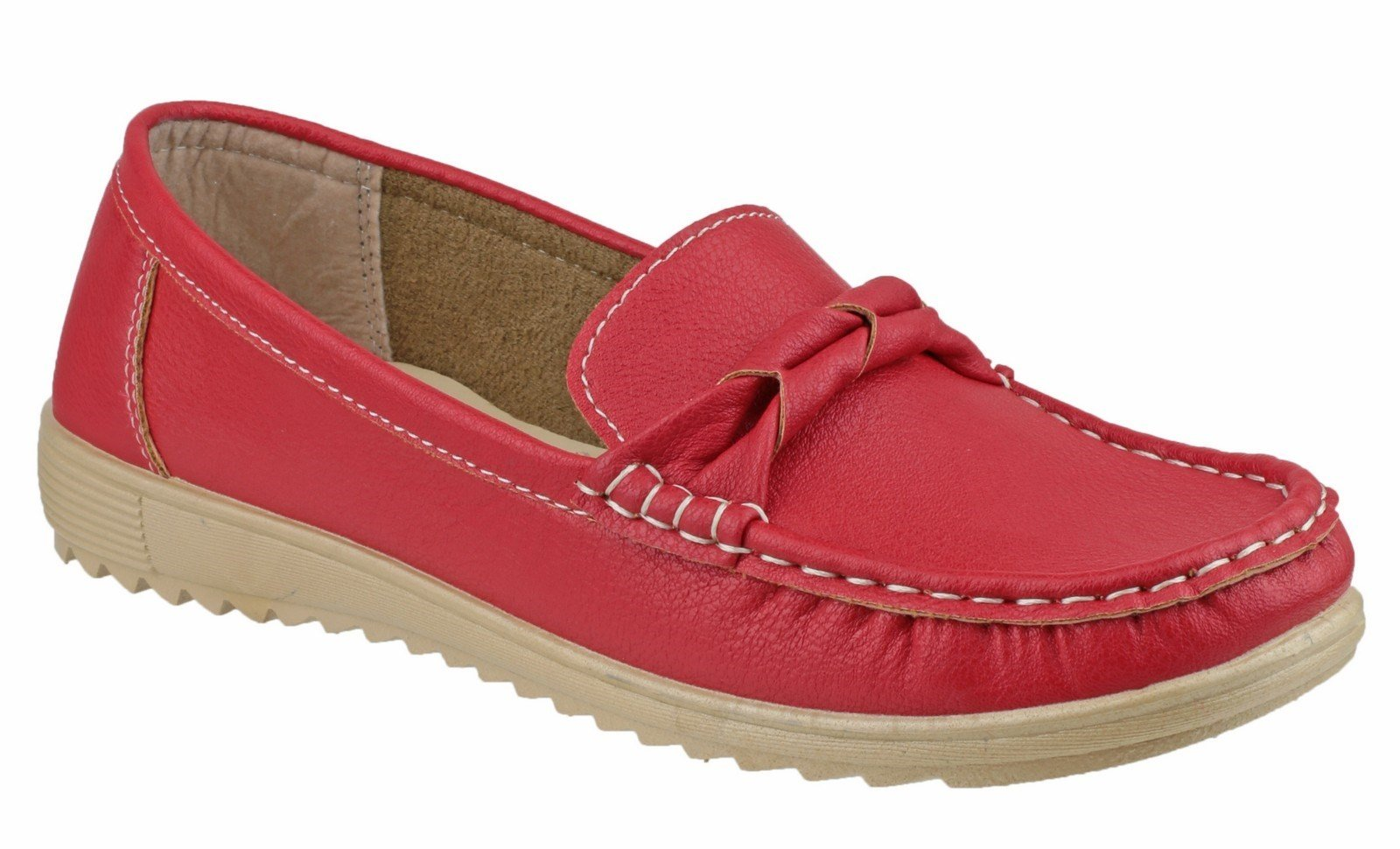Fleet & Foster Women's Paros Loafer Various Colours 20938-33257 - Red 3