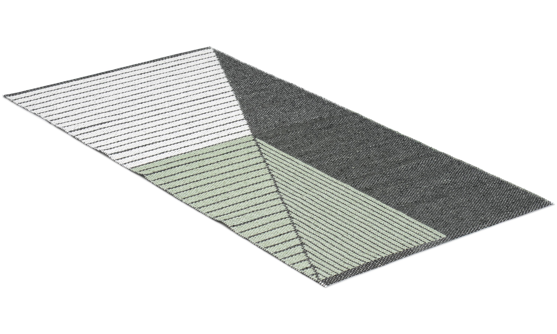 Stripe grønn - plastteppe