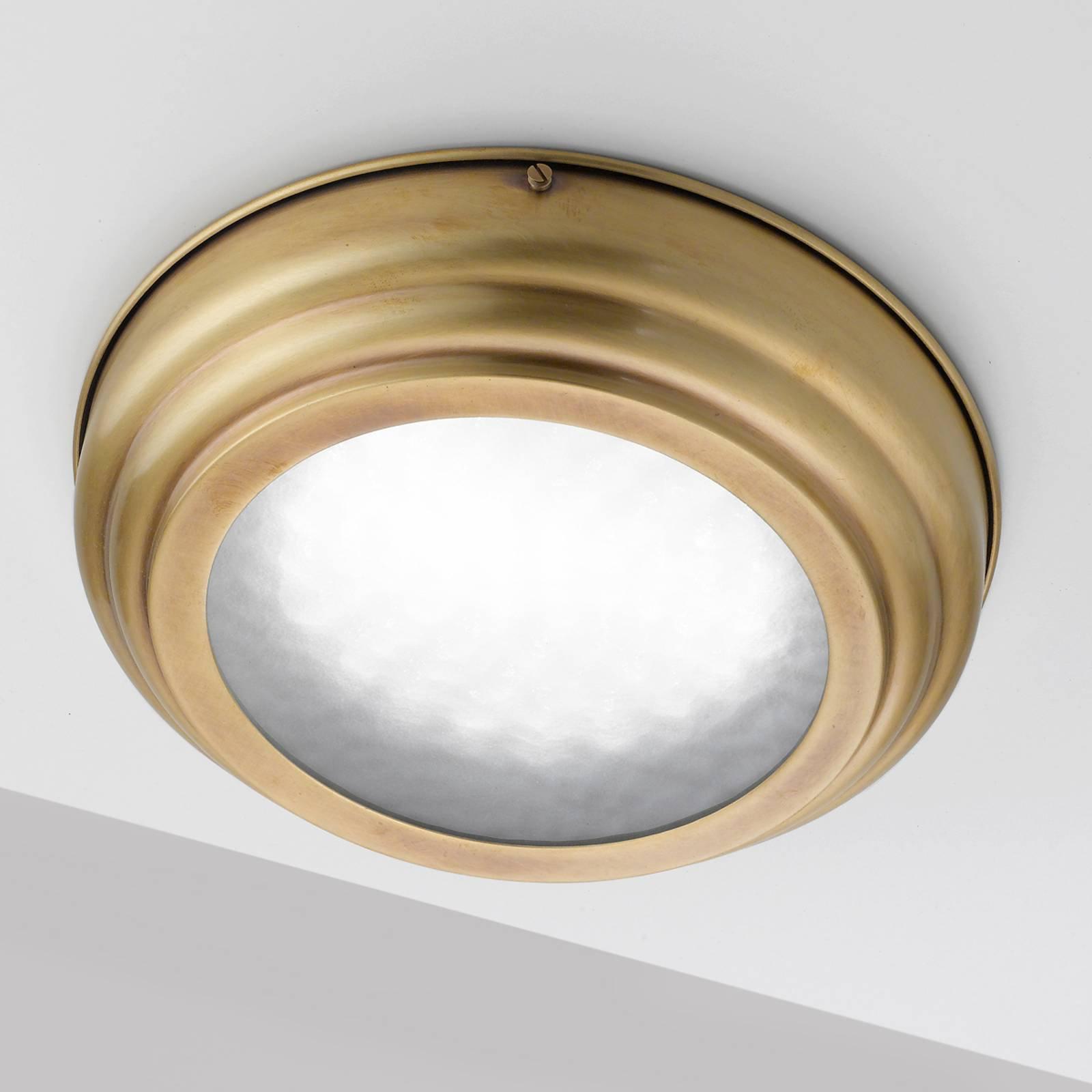 LED-taklampe Scirocco 39cm, messing satinert