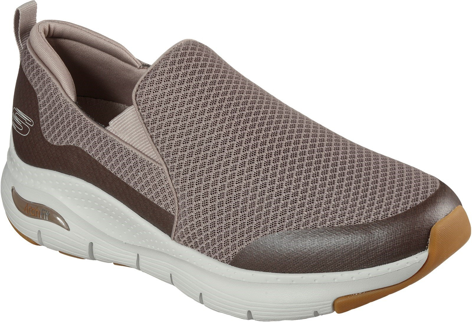 Skechers Men's Arch Fit Banlin Slip On Sports Trainer Various Colours 30358 - Taupe 6