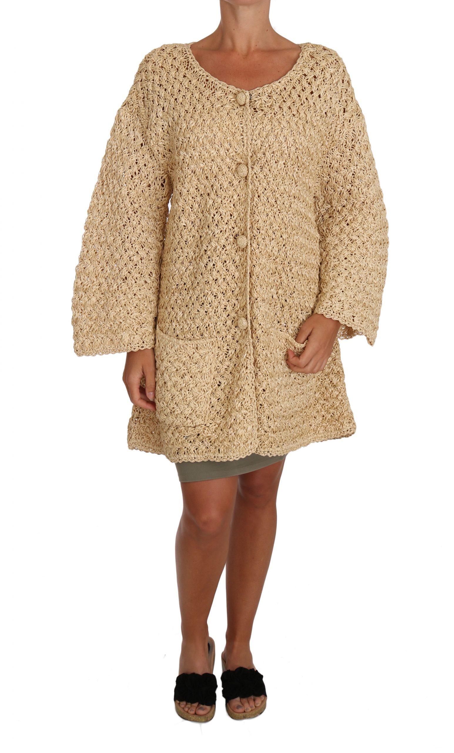 Dolce & Gabbana Women's Cardigan Beige TSH2721 - IT40 S