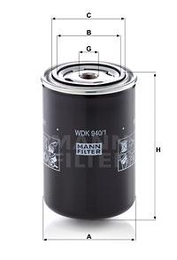 Polttoainesuodatin MANN-FILTER WDK 940/1