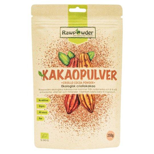 Rawpowder Ekologiskt Kakaopulver Criollo, 250 g