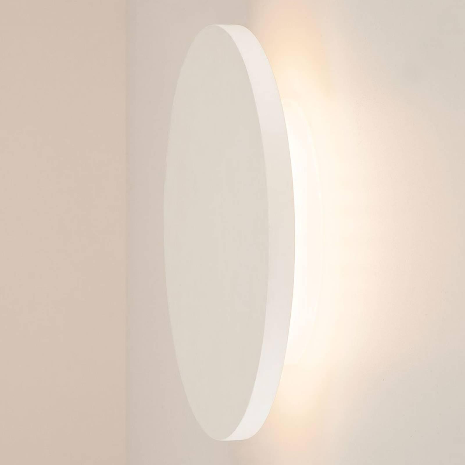 SLV Plastra -LED-seinävalaisin kipsiä, pyöreä