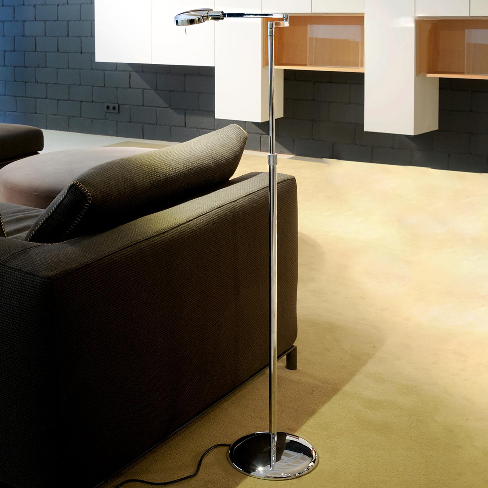 Korkeussäädettävä 3-LED-lattiavalaisin, 1 lamppu