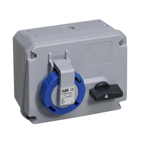 ABB 2CMA167801R1000 Seinäpistorasia IP67, 2P+J, 50–60 Hz