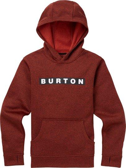 Burton Boys Oak Pullover Hoodie, Bitters Heather S