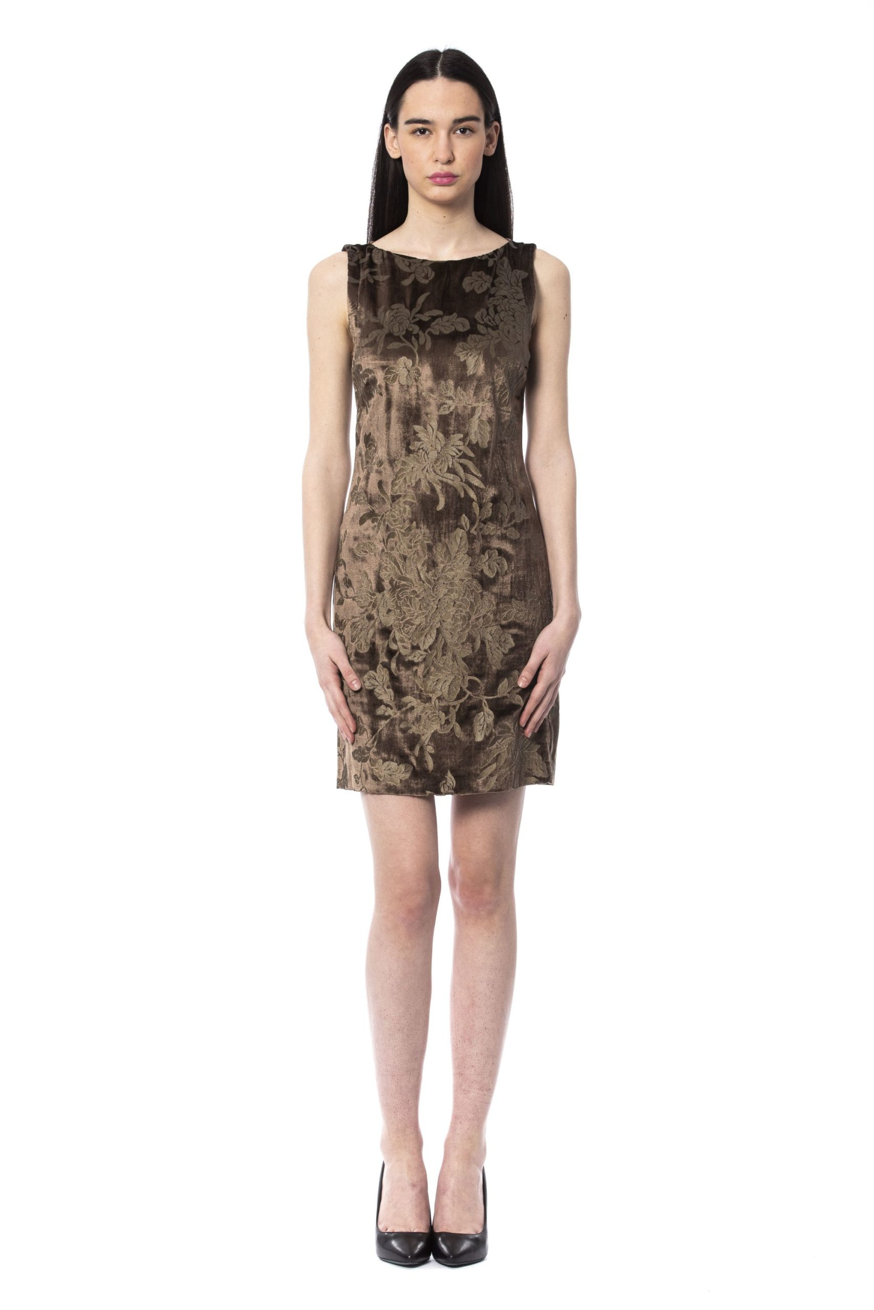 BYBLOS Women's Cacao Dress Brown BY994748 - IT42 | S