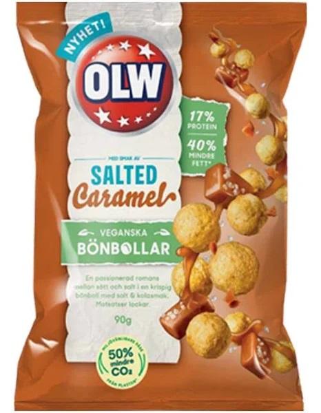OLW Bönbollar Salted Caramel Vegan 90g