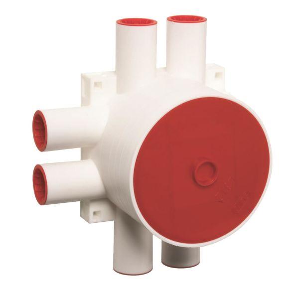 Elko 5229 Apparatboks hvit, 60 mm 6 rørtilkoblinger