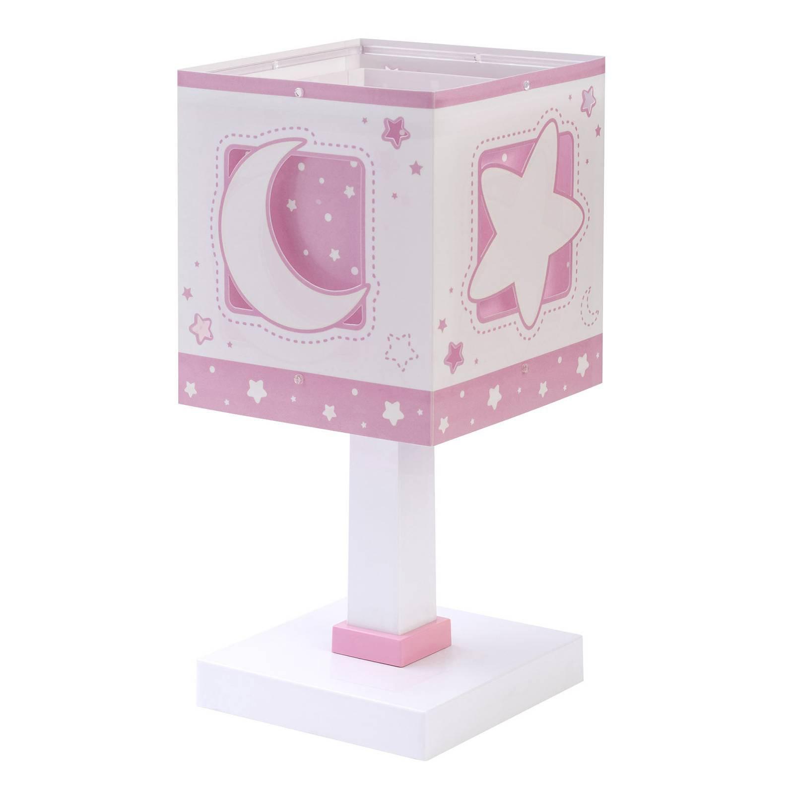 Bordlampe til barnerom Moonlight, rosa