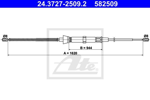 Käsijarruvaijeri ATE 24.3727-2509.2