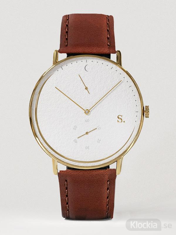 Sandell Day Plus Brown leather SSW40-BRL - Unisexklocka