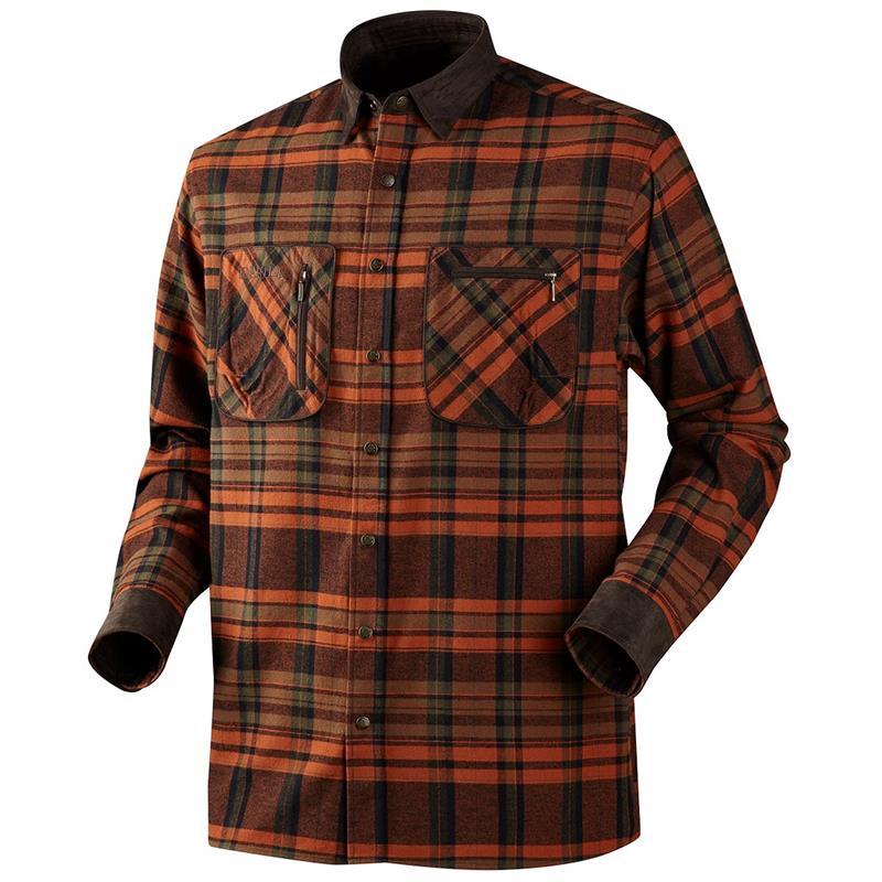 Härkila Pajala Skjorte 4XL Burnt Orange Rutete skjorte i 100% bomull