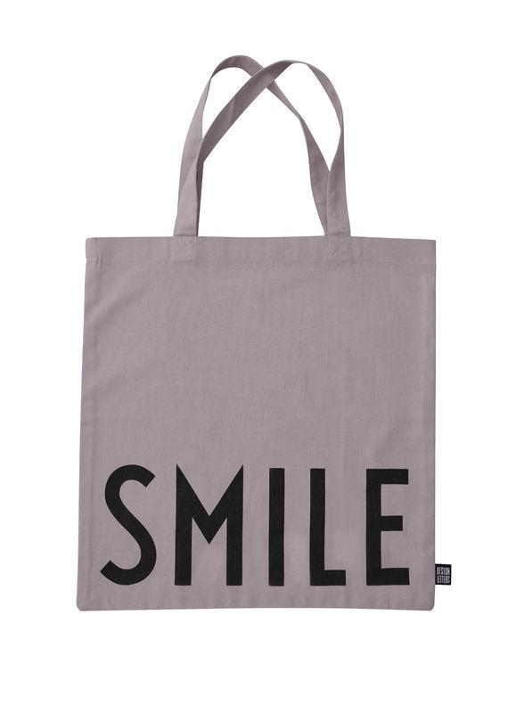 Design Letters - Farvorite Tote Bag - Smile Dusty Purple (10502001PURPLSMILE)