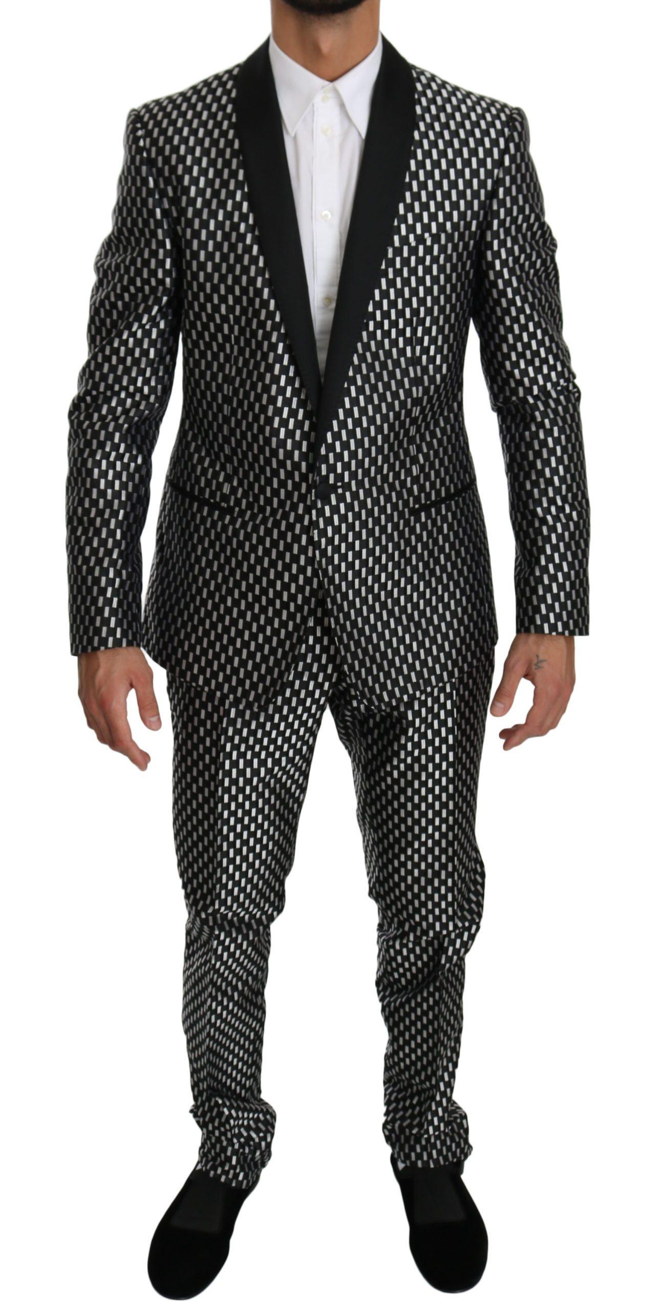 Dolce & Gabbana Men's Slim Fit 2 Piece Silk MARTINI Suit Beige KOS1539 - IT50 | L