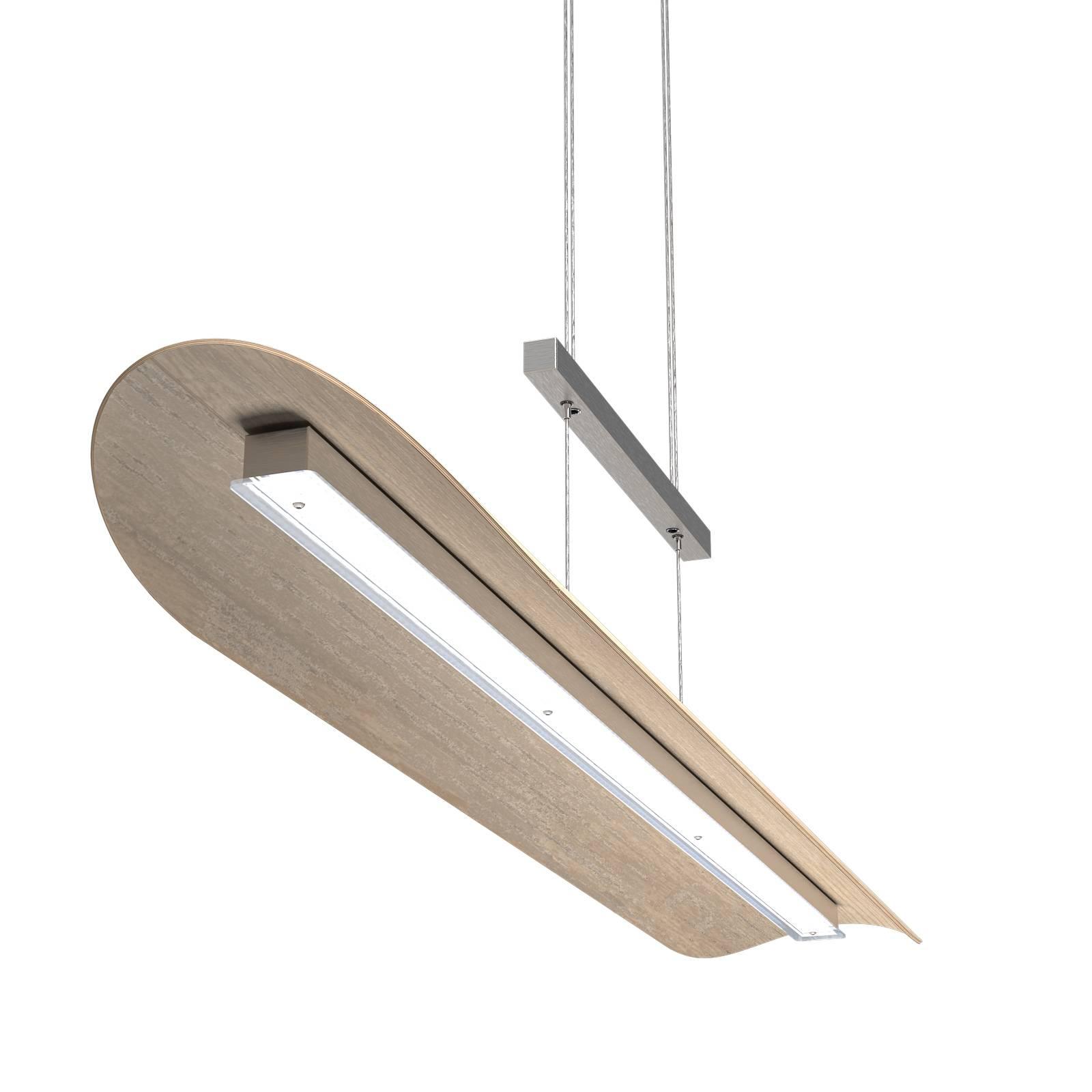 LED-riippuvalaisin Colombia XL, kalkittu tammi