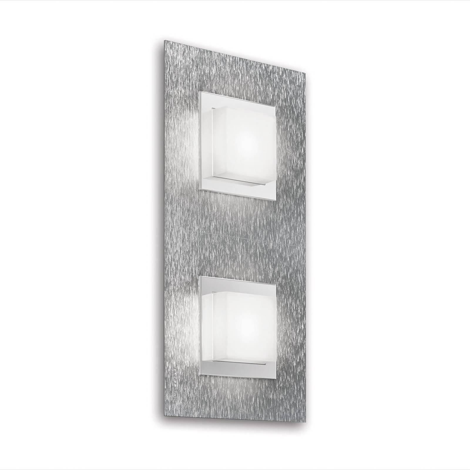 GROSSMANN Basic LED-vegglampe 2lk., aluminium