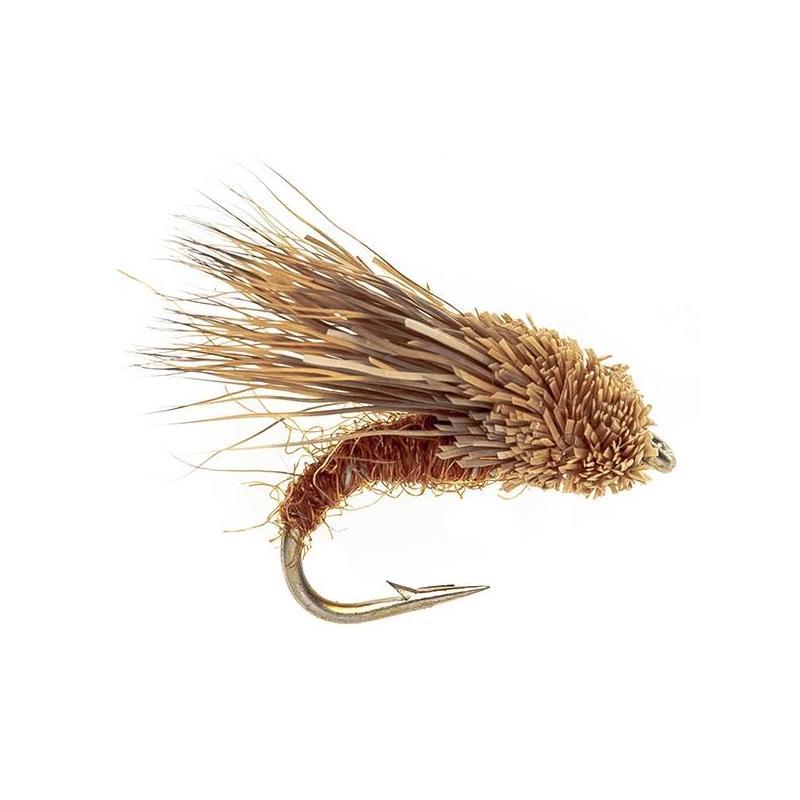 Streaking Caddis dobbel Brun #8 Dobbelkrok flue