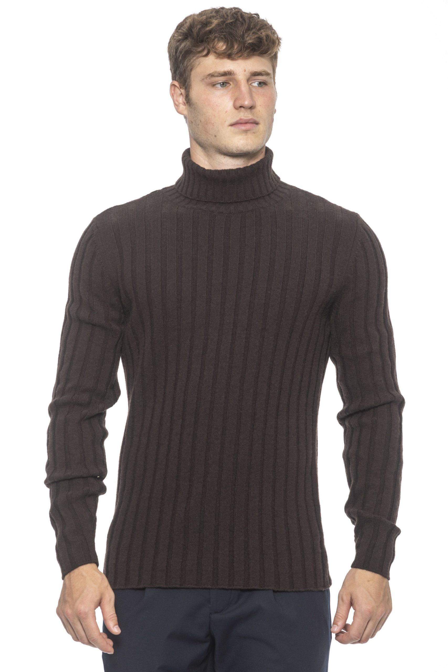 Alpha Studio Men's Moro Sweater Brown AL1192028 - IT50 | L