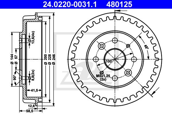 Jarrurumpu ATE 24.0220-0031.1