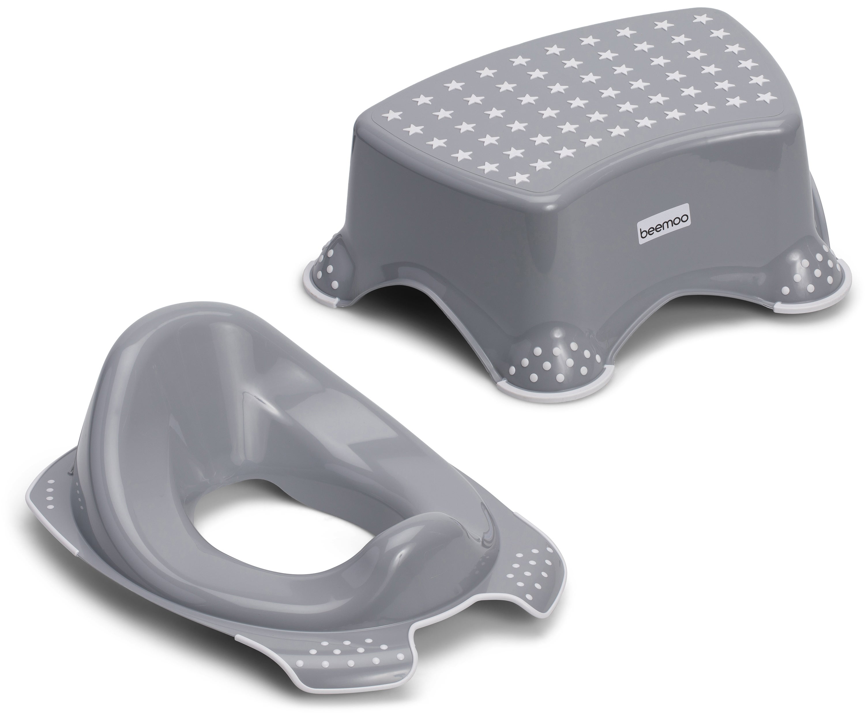 Beemoo Care Anti-Slip WC-istuin ja Seisomakoroke, Harmaa