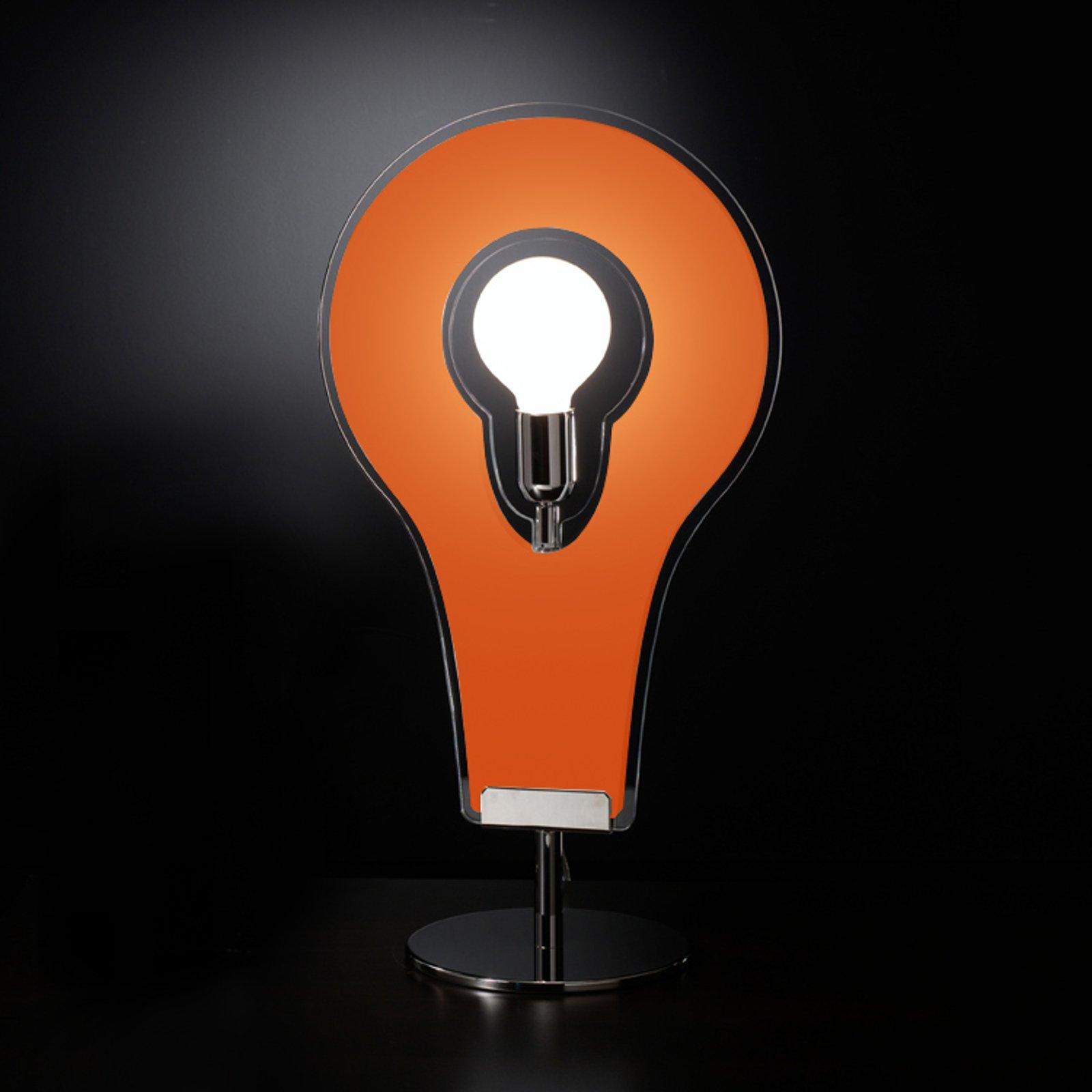 Grandiøs bordlampe Flat 60, oransje