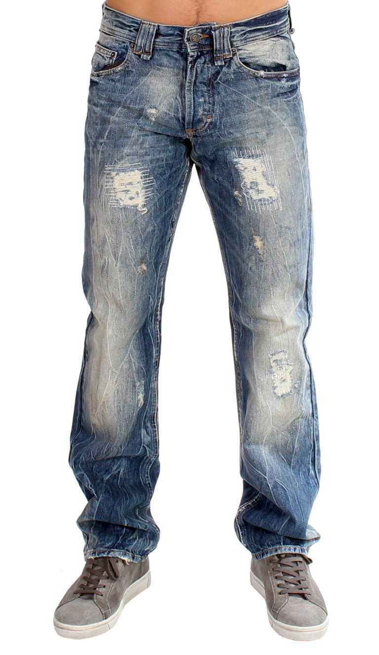 John Galliano Men's Washed Cotton Jeans Blue SIG10821 - W27