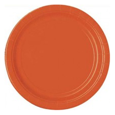 Papperstallrikar Orange - 16-pack