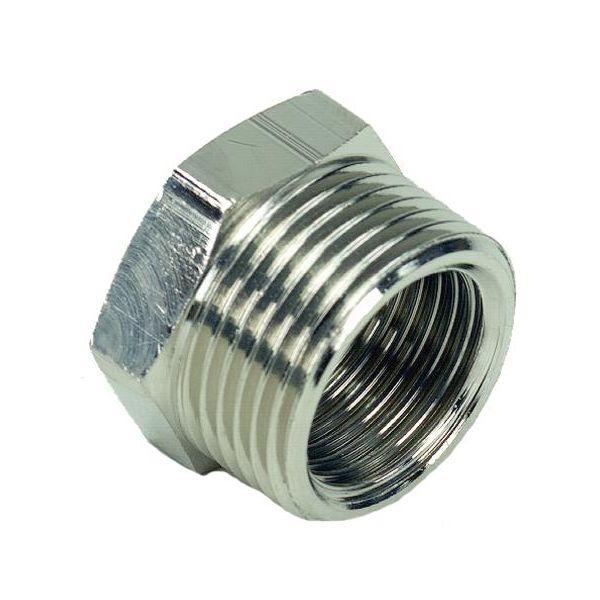 Ezze 3006075062 Metalliholkki sisä- ja ulkokierre G15 x G10 mm, nikkelipinnoitettu