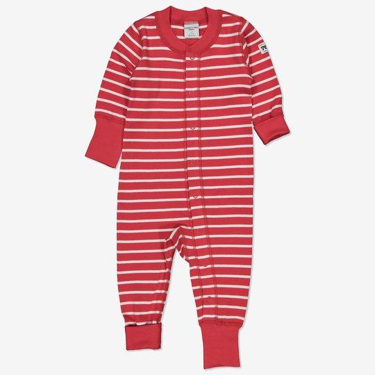 Dress stripet baby rød