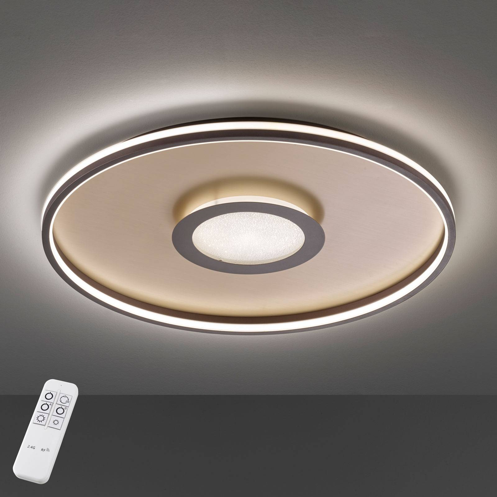 Bug-LED-kattovalaisin, pyöreä, ruoste, 45 cm