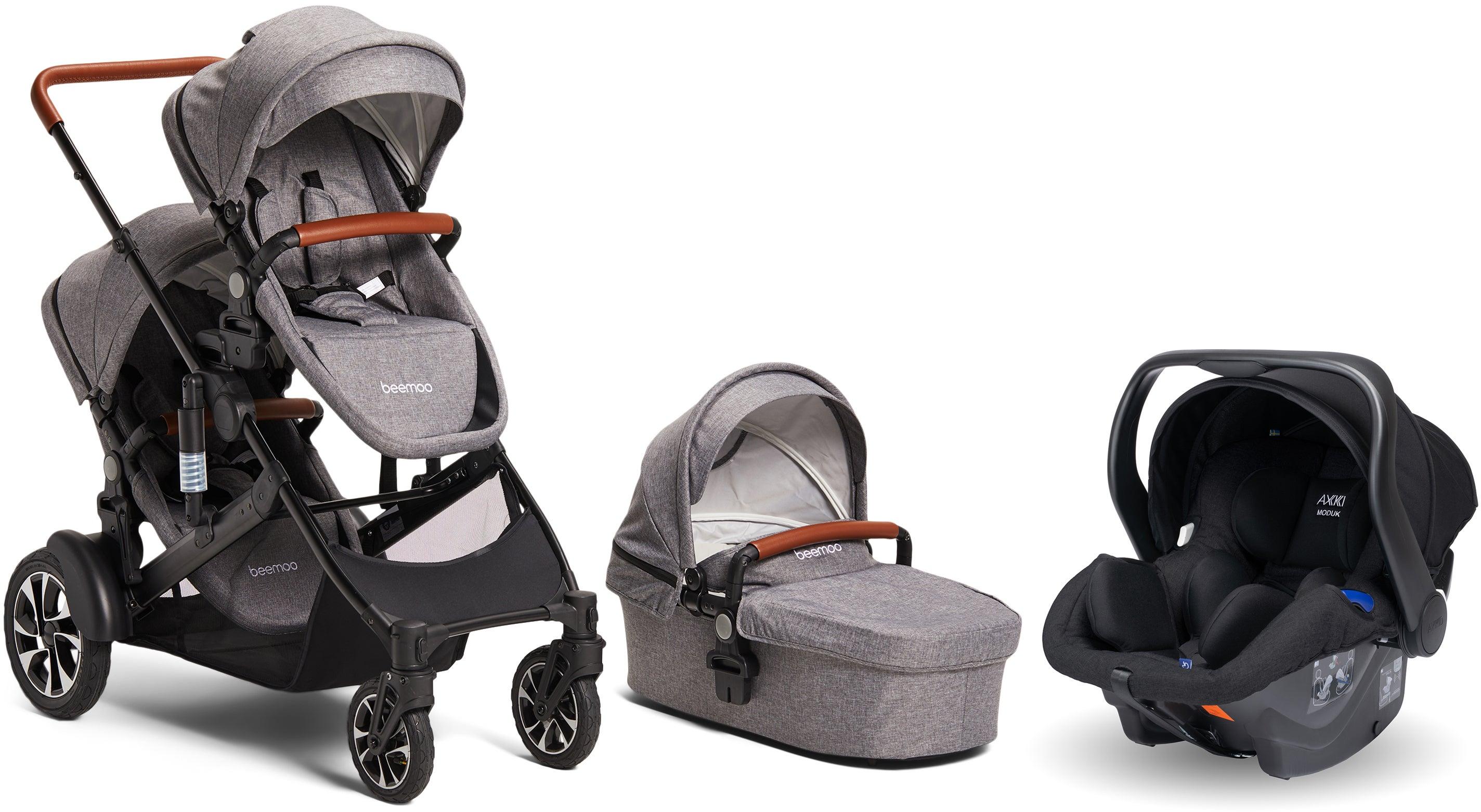 Beemoo Maxi 4 Twin Sisält. Modukid Infant Turvakaukalo, Grey/Black