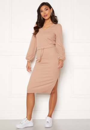 Happy Holly Emilia midi skirt Light beige 48/50