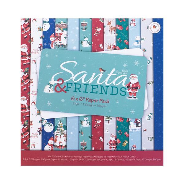 Santa & Friends 6x6 Paper Pack