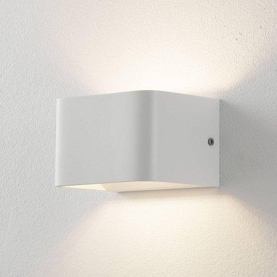 Lucande Sessa -LED-seinävalaisin 13 cm valkoinen