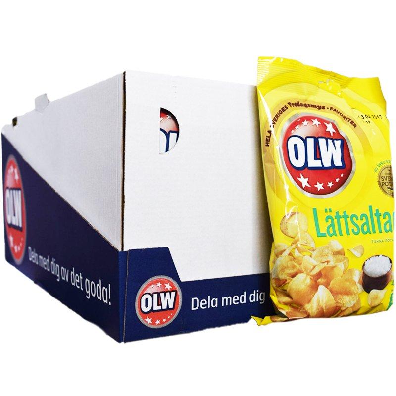 Hel Låda Chips Lättsaltade 20 x 40g - 50% rabatt