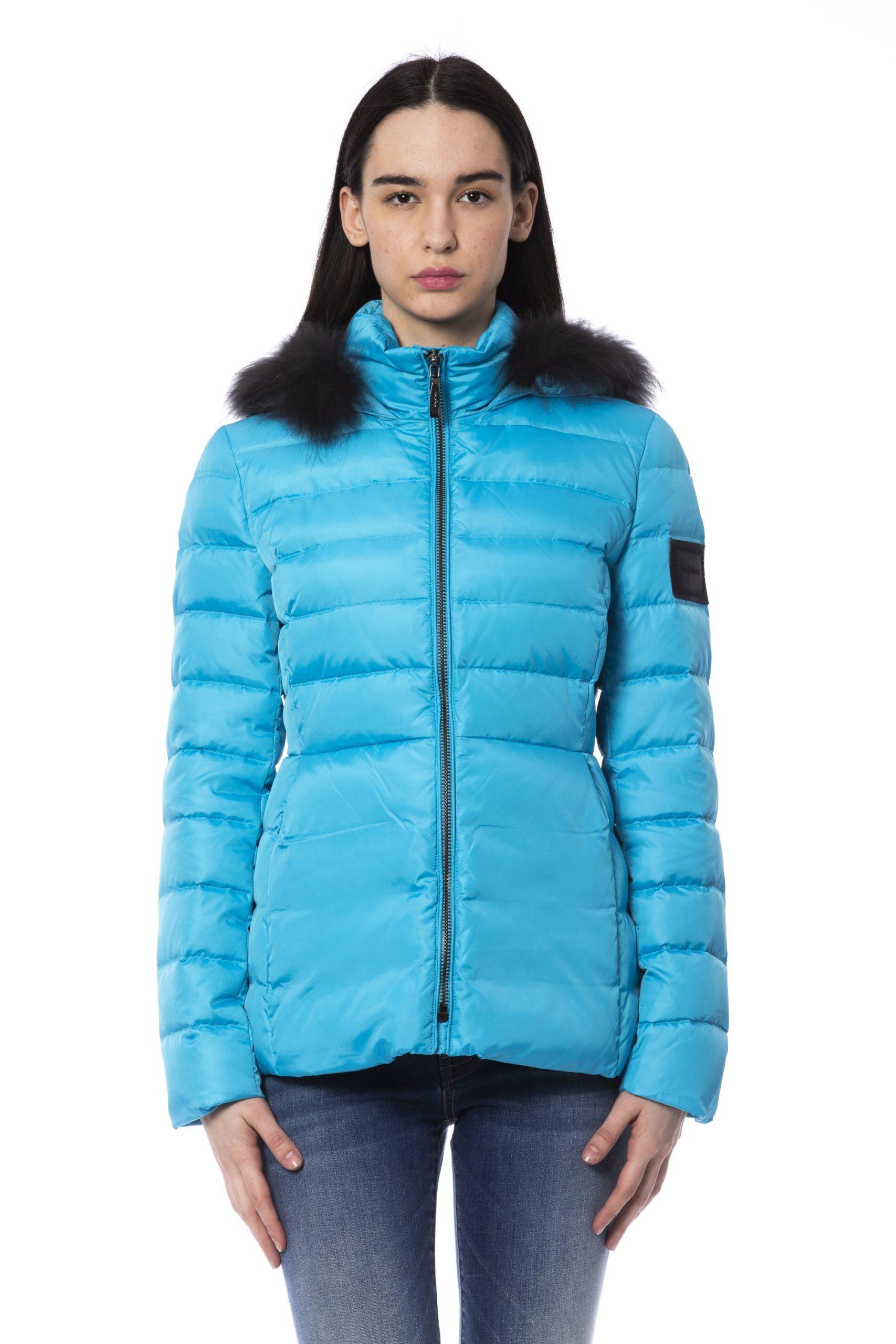 Byblos Women's Jacket Light Blue BY853440 - IT40 | XS