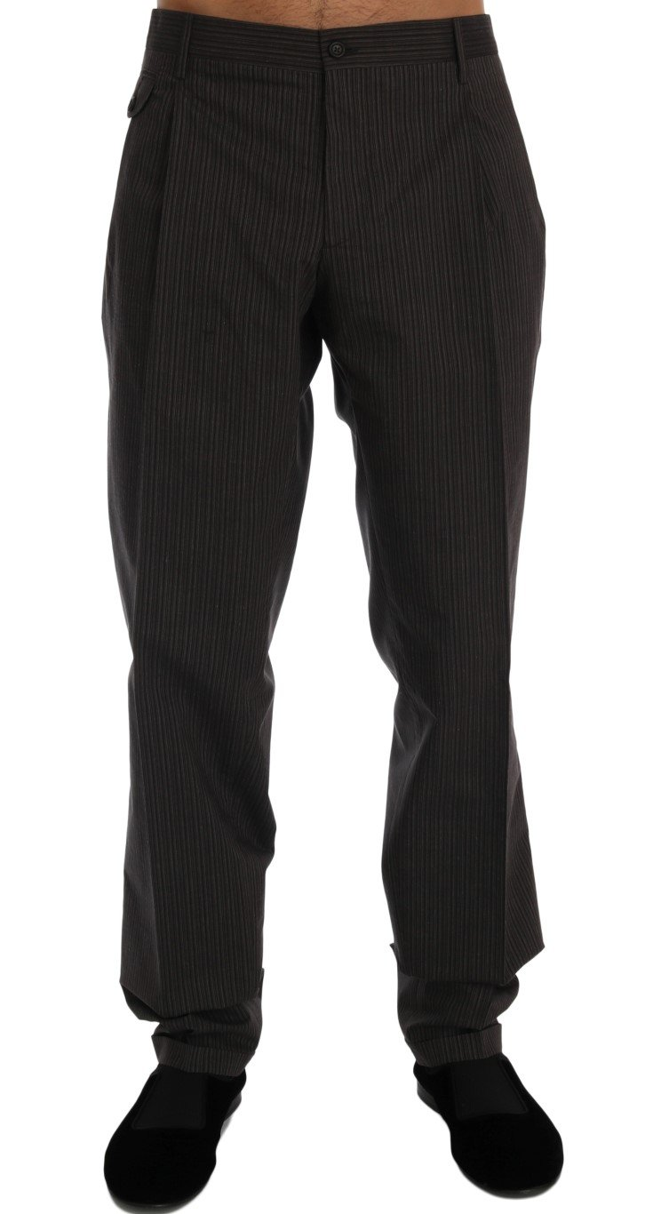 Dolce & Gabbana Men's Striped Cotton Trouser Brown PAN60319 - IT54 | XL