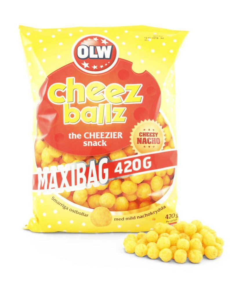 OLW Cheez Ballz Maxibag 420g