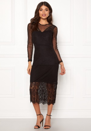 ONLY Sam L/S Lace Dress Black 34