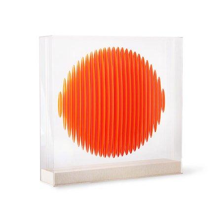 Orange Circle Art Frame
