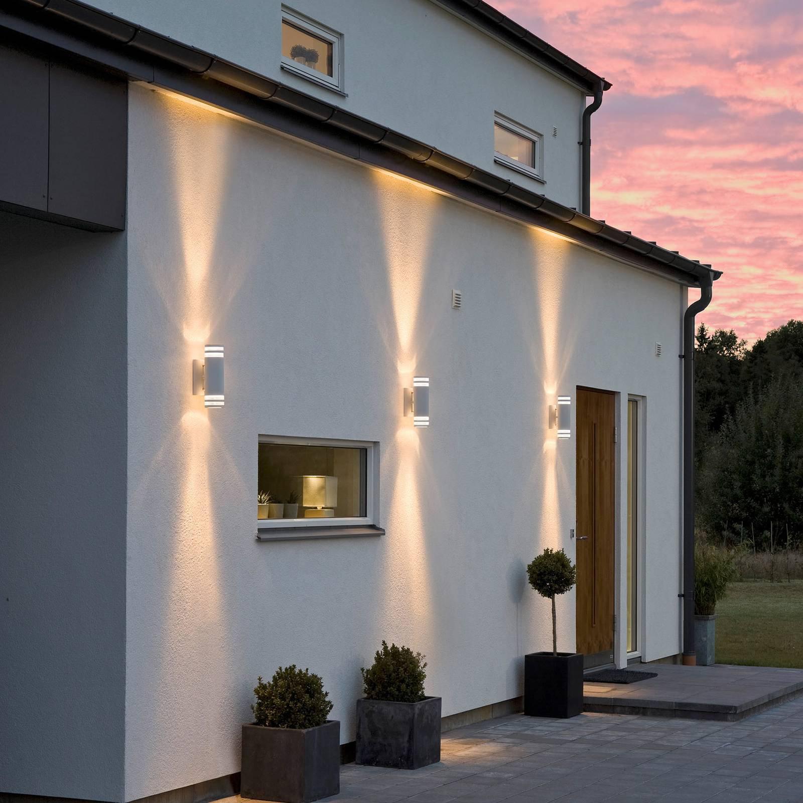 Modena utendørs vegglampe, 2 lyskilder, hvit