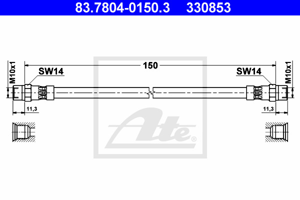 Jarruletku ATE 83.7804-0150.3