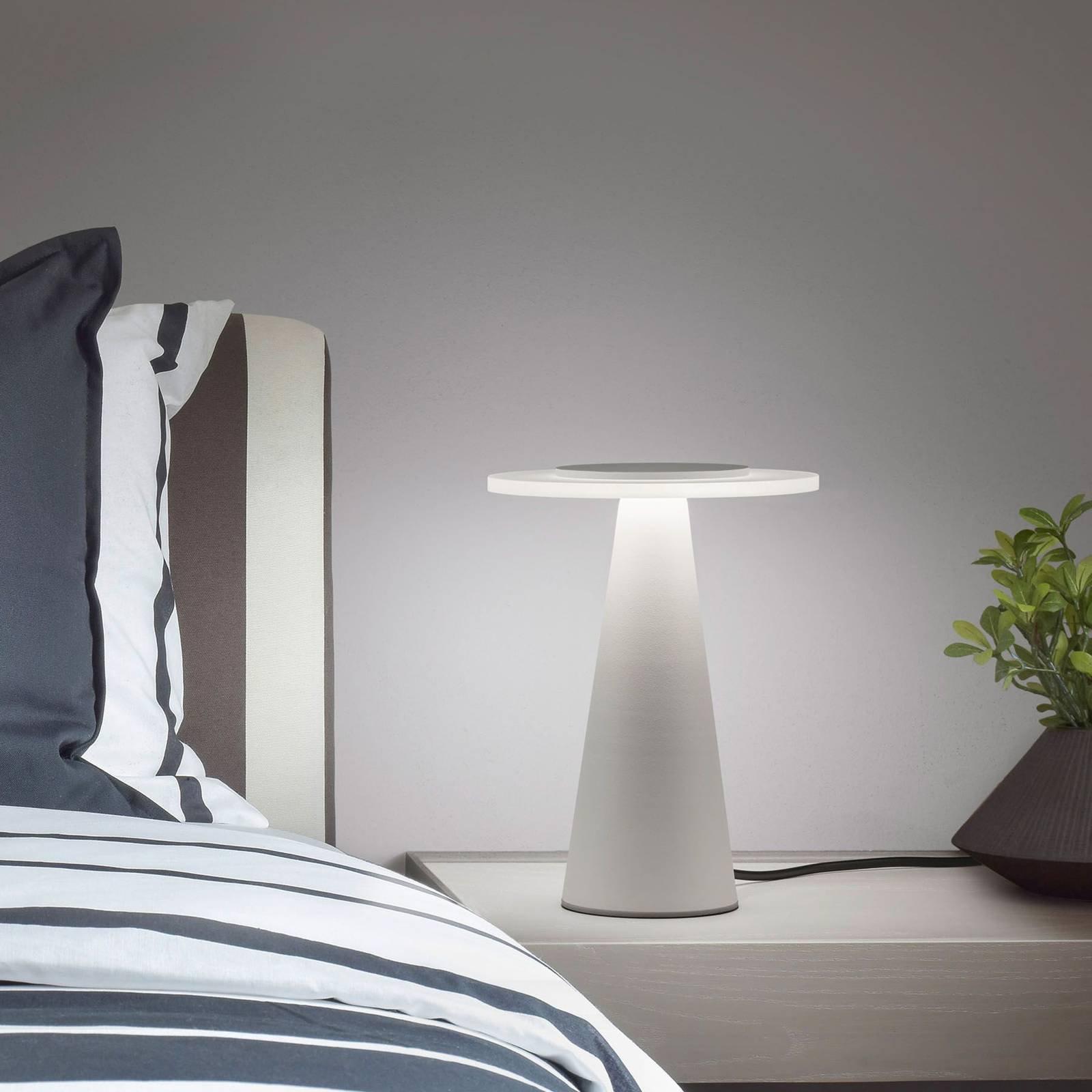 Helestra Bax bordlampe med touchdimmer, hvit