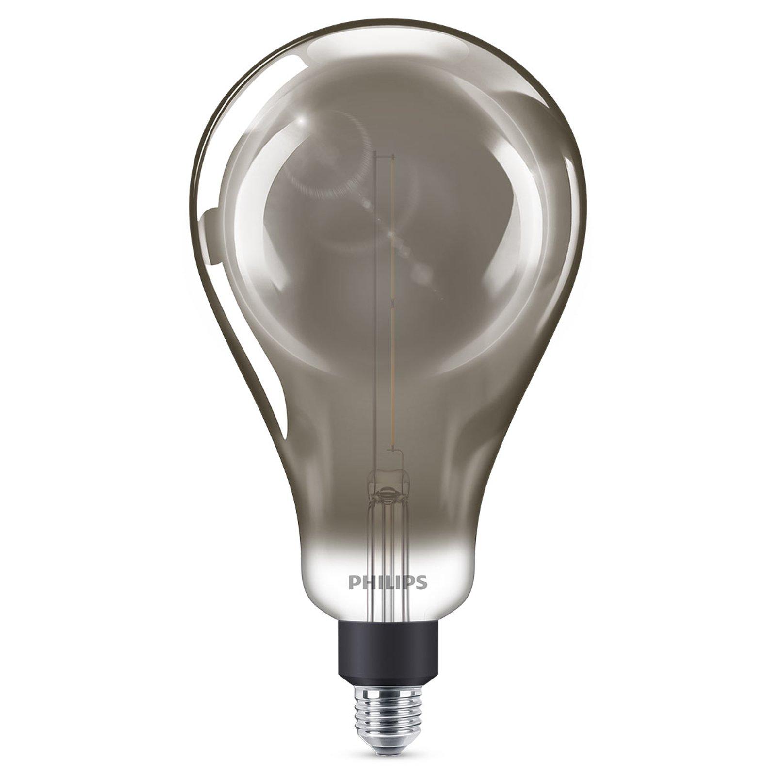 Philips E27 Giant LED-pære 6,5W dimbar smoky