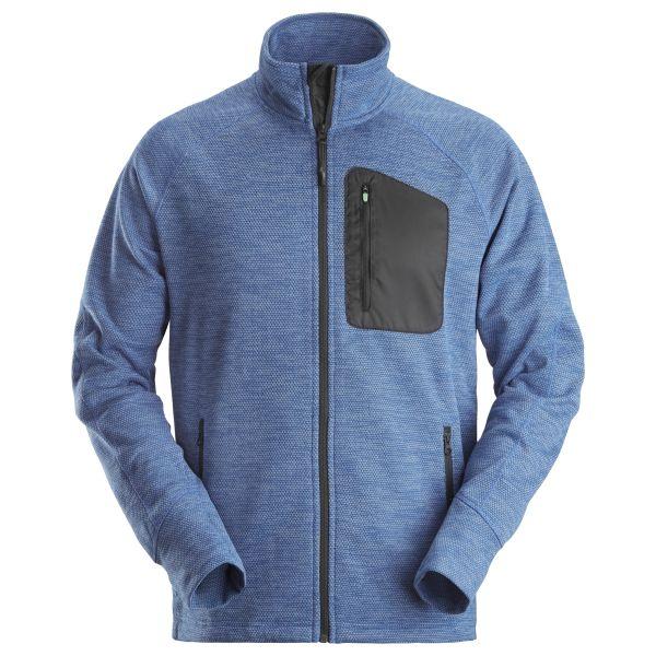 Snickers 8042 FlexiWork Fleecejakke blå XS